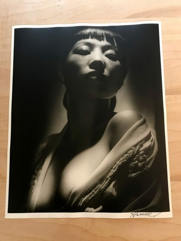 "Anna May Wong by George Hurrell 16"" x 20"" Signed Silver Gelatin Photograph"