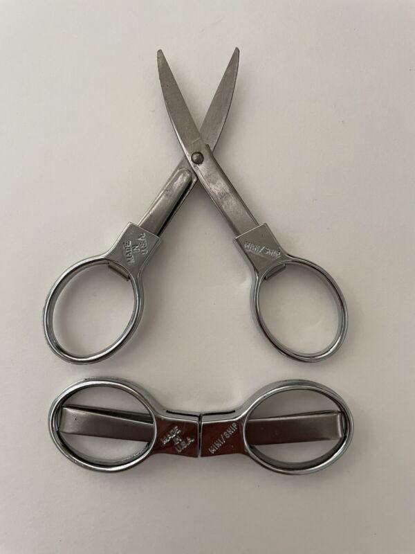 Vintage Mini Snip Folding Scissors - Made in USA - Sharp!