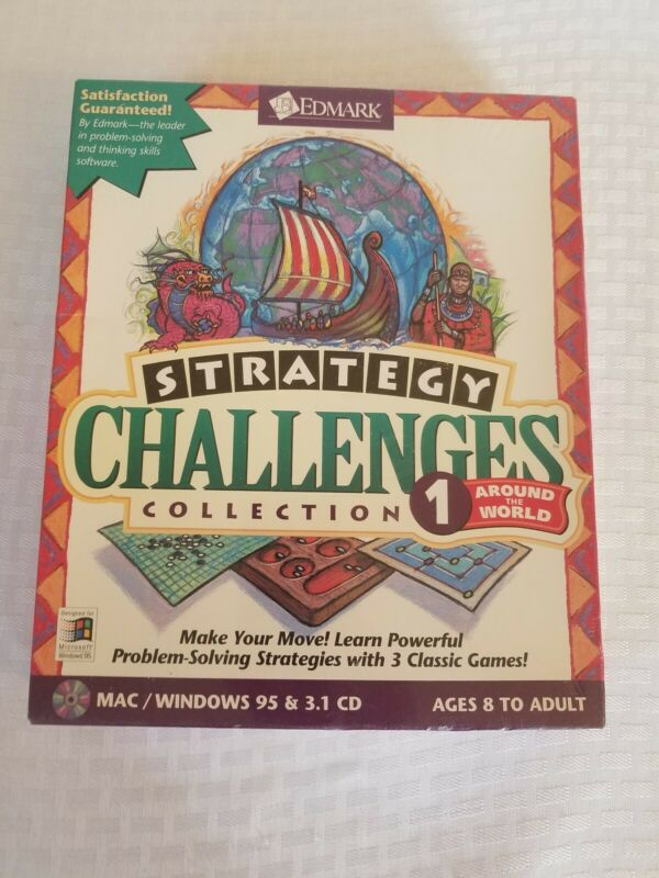 sealed big box mac and pc software edmark strategy challenges collection vol 1