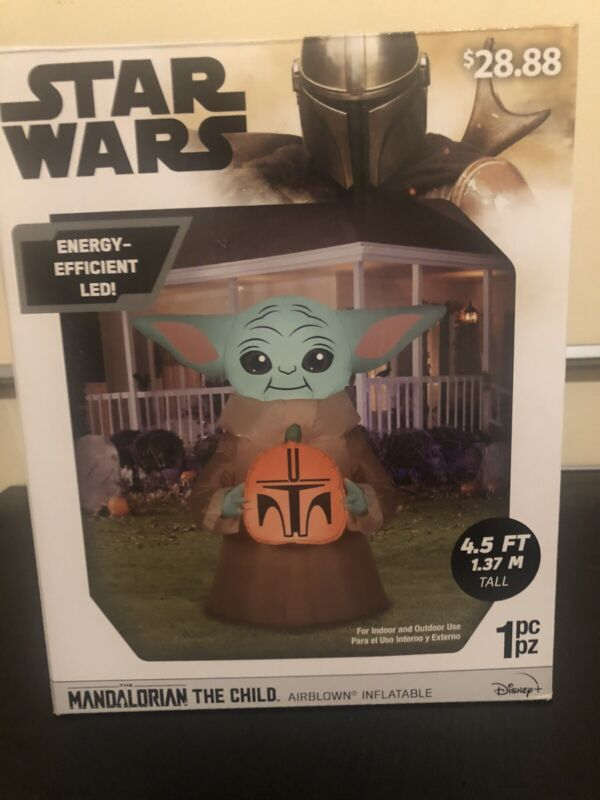 Star Wars The Mandalorian The Child Baby Yoda Halloween Airblown Inflatable NEW