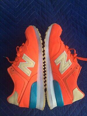 New Balance 574 Women 6.5 Bright Orange