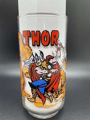 VINTAGE THOR DRINKING GLASS 1977 7-11 MARVEL PERFECT