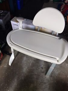 Shower transfer bench and grab bar