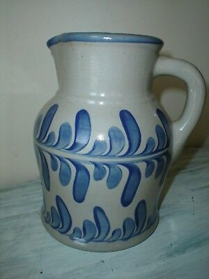 Beaumont Brothers Pottery Bbp Pottery Large 9  Salt Glazed Stoneware Pitcher New