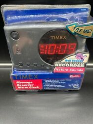 Timex Message Recorder Alarm Clock with Nature Sounds T138B New Sealed