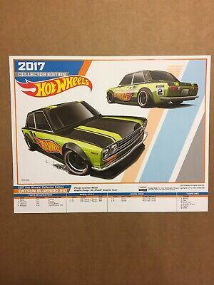 Hot Wheels 2017 Kmart Datsun Bluebird 510 Mail In Poster