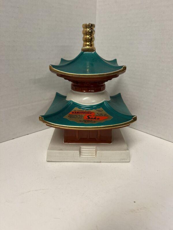 Kamotsuru Sake Decanter Bottle Treasure Tower Pagoda