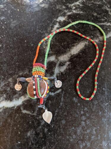 African Maasai Masai Beaded Necklace Snuff Pot?