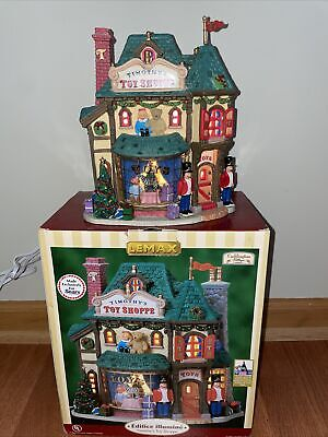VTG Lemax Caddington Village 2007 Timothy's Toy Shoppe Lighted Christmas #75603