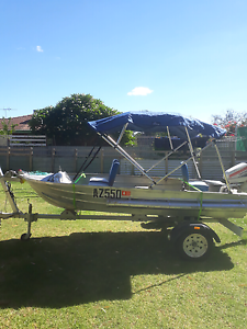 Tinnie 14ft with 5.5hp johnson Armadale Armadale Area Preview