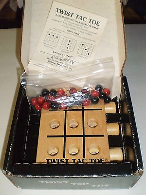 TWIST TAC TOE  WOODEN Game by Channel Craft 1988 with box and instuctions