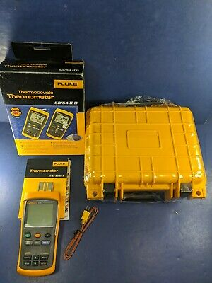 Fluke 53 Ii B Logging Thermocouple Thermometer Calibrated With Data