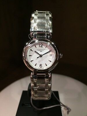 NEW Authentic LONGINES PRIMALUNA L8.110.4 27MM S/S  Box/Papers