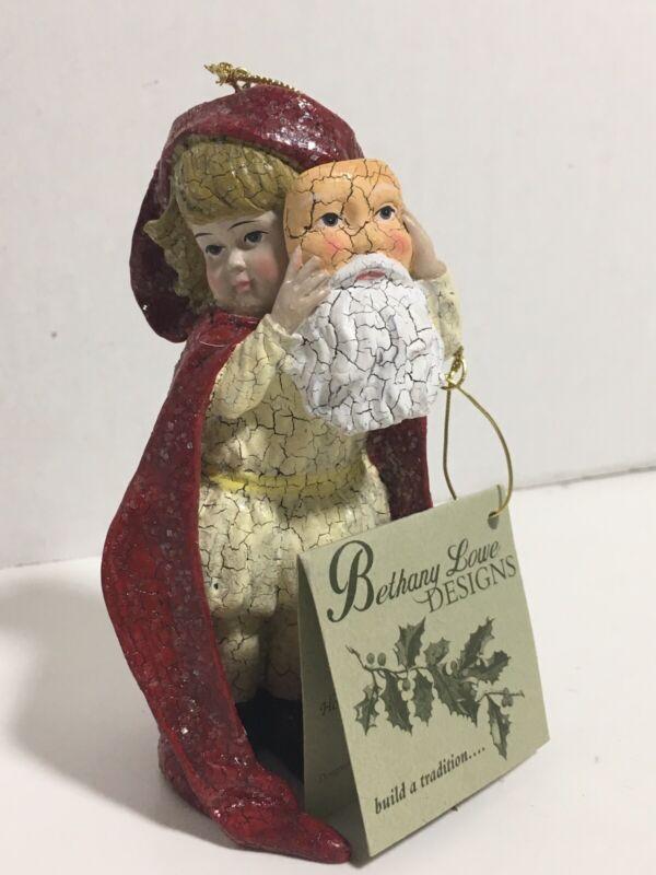 Bethany Lowe Designs Christmas Girl With Santa Mask