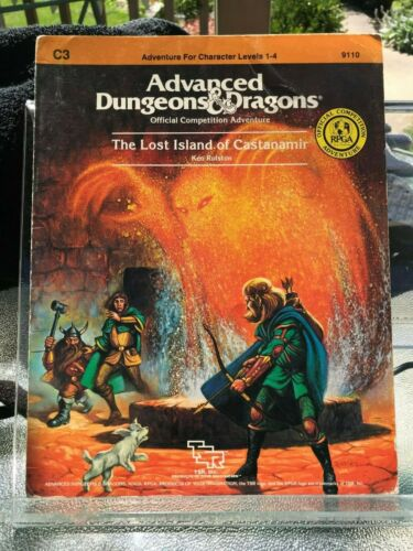 TSR 9110  C3 Lost Island of Castanamir for Advanced Dungeons & Dragons