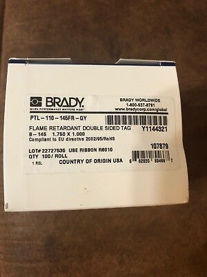 Brady Ptl-110-145fr-gy Label For Tls 2200 Tls Pc Link