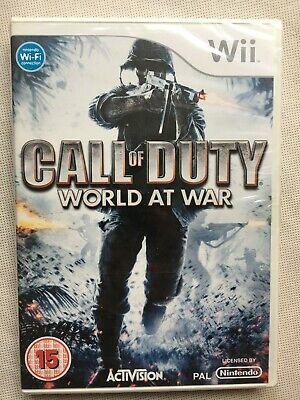 Call of Duty World at War (damaged box) - Wii UK Factory...
