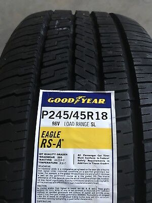 2454518 245/45R18 Goodyear Eagle RSA Blk 96V New Tire - Qty 4