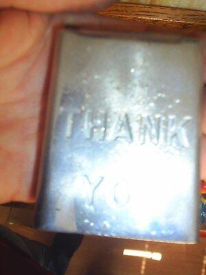 Used Victor topper gumball machine door asis cound Thank you Door Item #102
