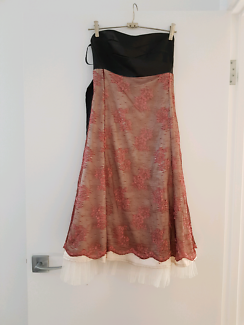 Size small pink and black cocktail dress