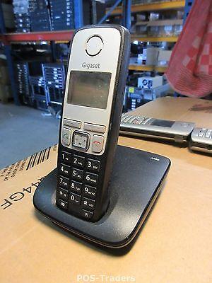 Siemens Gigaset A400 / A 400 analog schnurlos Telefon schwarz EXCL PSU