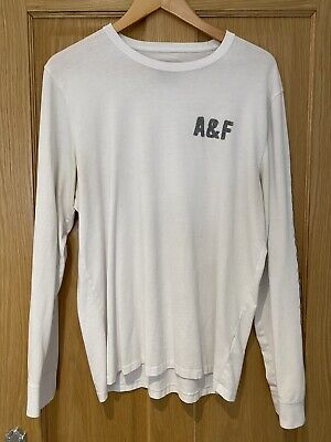 Abercrombie And Fitch White Long Sleeve T Shirt - Size Large