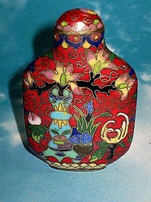 Vintage Chinese Cloisonne' Snuff Bottle