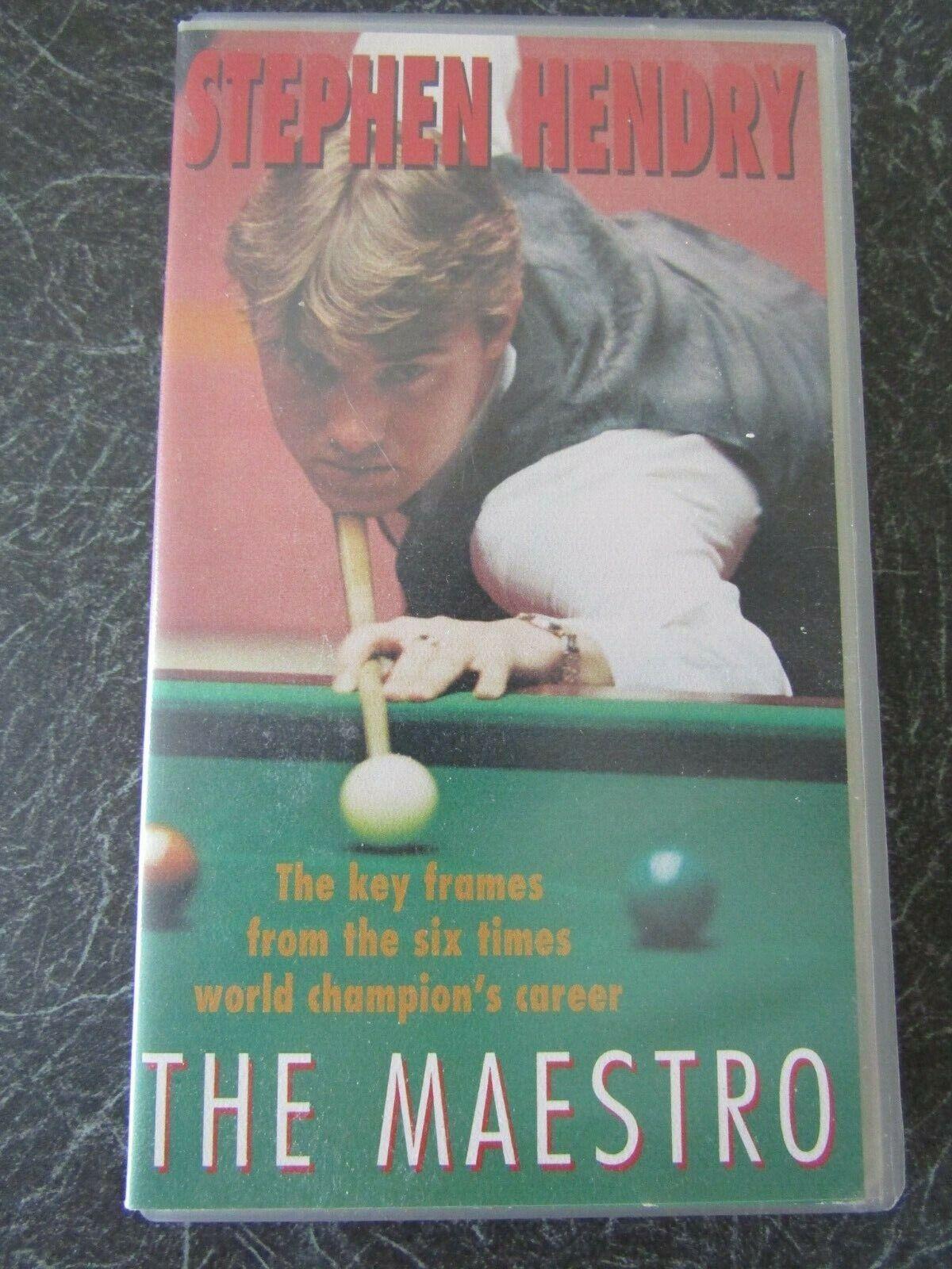 VHS Video, STEPHEN HENDRY  Key frames 6x World Champion, THE MAESTRO 185 min.