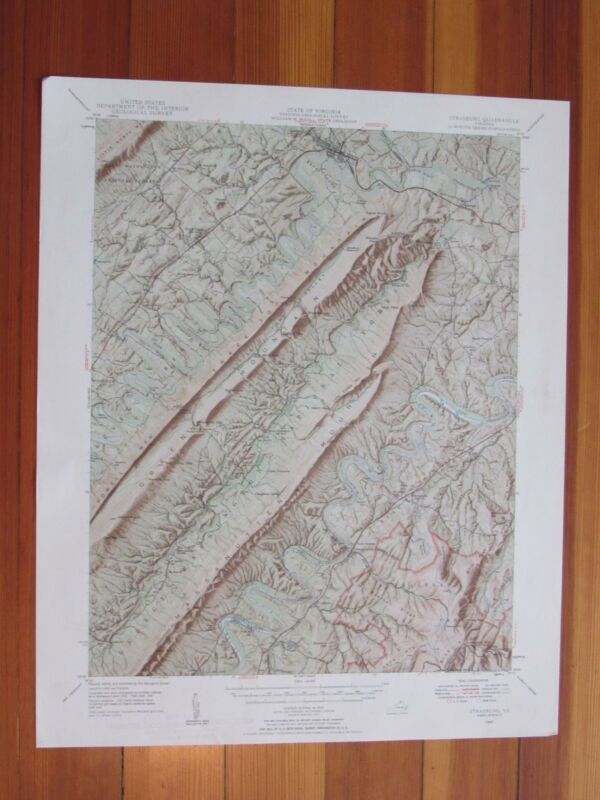 Strasburg Virginia 1959 Original Vintage USGS Topo Map