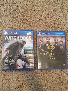 Watch dogs and The order BRAND NEW!