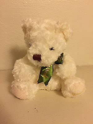 "HARRODS Knight Bridge 11"" Fuzzy Teddy Bear Stuffed / Cream White"
