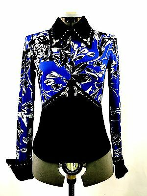 Large Western Show Pleasure Rail Shirt Jacket Clothes Showmanship Horsemanship