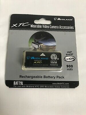 Midland BATT9L 900mAh Rechargeable Li-Ion Battery Pack for XTC200 Ser. Cameras  Rechargeable Batt Pack