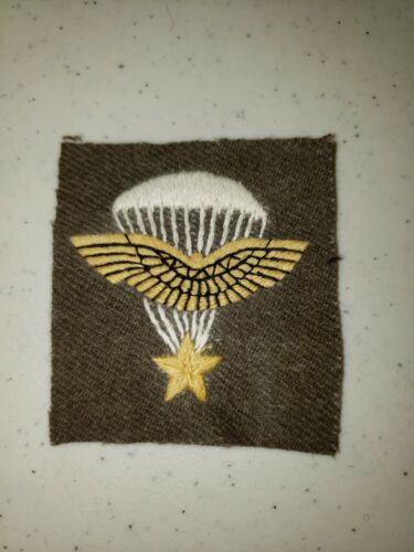 K1036 WW2 France French Army Sleeve Patch Free French Paratroopers Brown L3B
