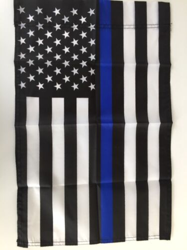 12x18 Thin Blue Line Garden Flag - Police Law Enforcement - Small Yard Banner