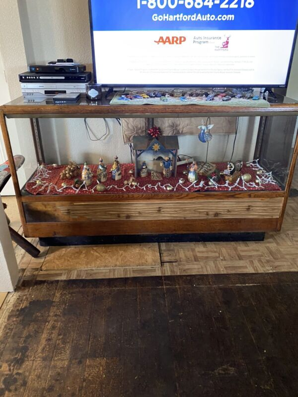 Antique General Store Counter Display Case