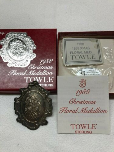 Towle Sterling Ornament 1988 Floral, Ex. Cond., incl. box, leaflet, bag