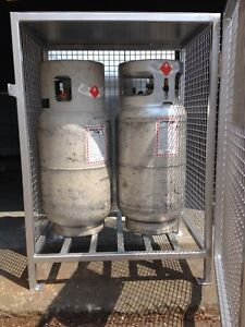 Heavy duty propane cylinders storage cages for sale !