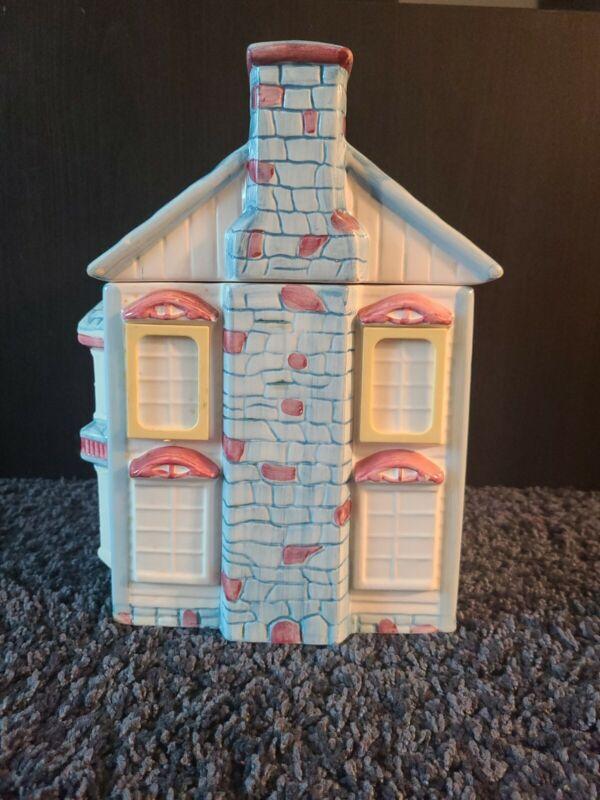 Ceramic house cookie jar