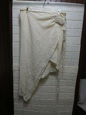 Caravana Womens Yalton Cotton Tie Skirt Natural.