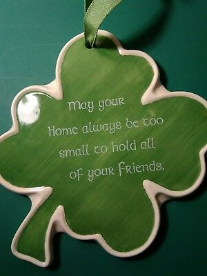 St. Patrick's Day Wall Hanging ~ IRISH SAYING ~ Shamrock Shaped ~ - Irish St Patrick's Day Sayings