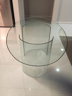 Glass dining table with glass leg stands Hillside 3037 Melton Area Preview