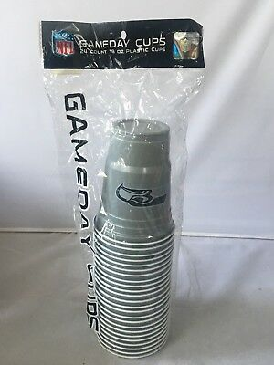 SEATTLE SEAHAWKS PLASTIC GAMEDAY CUPS 18OZ 18CT TAILGATE PARTY SUPPLIES NFL 2Pks