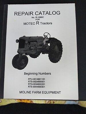 Minneapolis-moline R Tractor Repair Parts Catalog Manual R-1086c Reprint