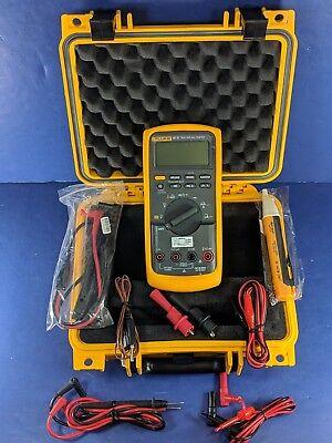 Fluke 87v Trms Multimeter Hard Case Calib 4-25-19 Excellent