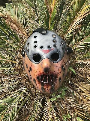 Jason Voorhees Hannibal Cracked Mask Custom Hand Painted - High Quality - Masquerade Custome