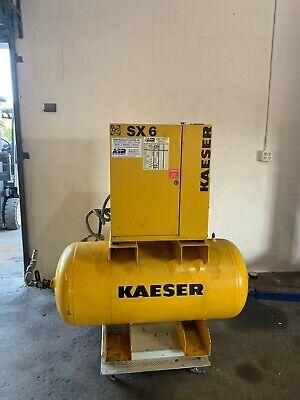 Kaeser Sx6 Low Hour Rotary Screw Air Compressor 20cfm 208v 3 Phase W Tank Dryer