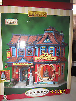 """TRAIN VILLAGE HOUSE CARNIVAL NEW """" CHAN'S CHINESE ANTIQUES """" +DEPT 56/LEMAX info"""