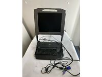 """Dell FY452 17FP 1U KMM Server Rack Console 17/"""" LCD w// Cables"""