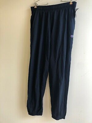 champion mens closed bottom light weight jearsy sweatpant, Navy, large - Closed Bottom Sweatpant